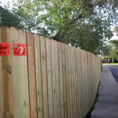 residential wood fences
