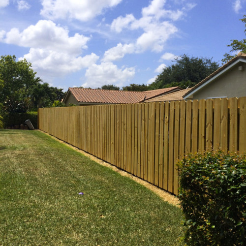 wooden fence installation coral springs